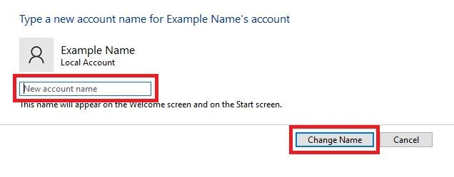 How to change your Windows username