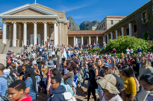 University of Cape Town students during the #FeesMustFall protests in 2016. Picture: JACO MARAIS/FOTO24/GALLO IMAGES/GETTY IMAGES