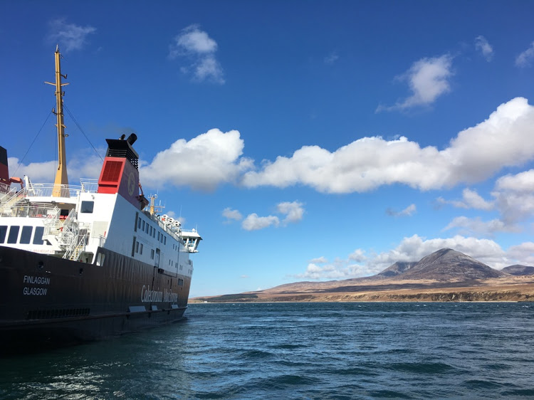 The CalMac ferry on its way to Port Askaig on Islay. Picture: ALEXANDER MATTHEWS