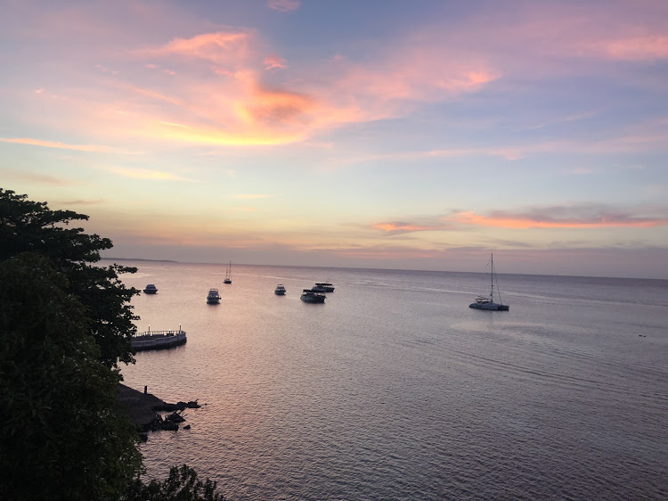 The sun sets over the Hibiscus Lodge in Ocho Rios. Picture: SUPPLIED