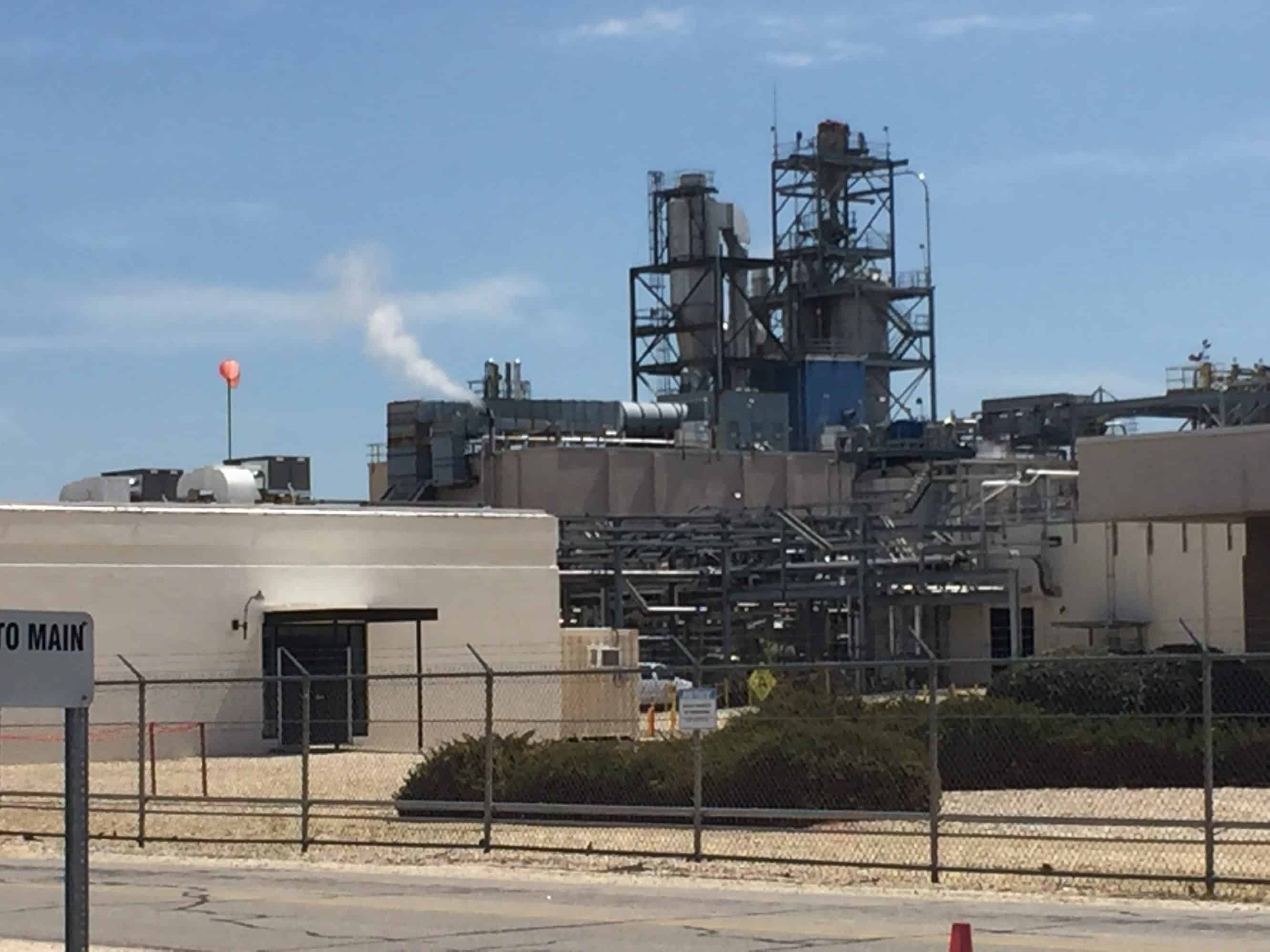 photograph of the industrial site on the border between Cumberland and Bladen Counties