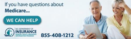 Medicare help line NC Dept of Insurance 855-408-1212