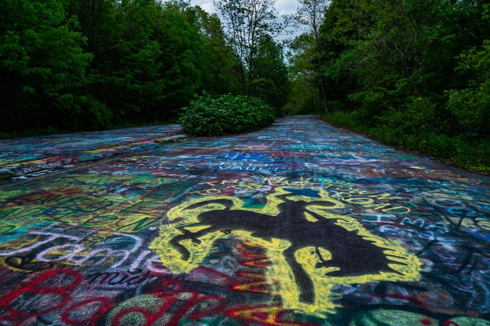 Graffiti Highway before it was covered up today.