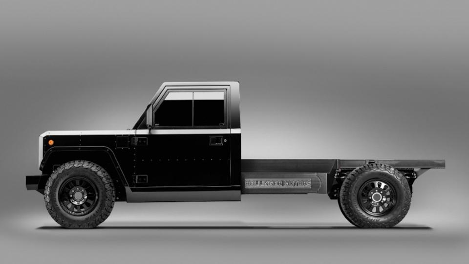 Bollinger B2 Chassis Cab, an electric utility truck based on the company's off-road SUV.