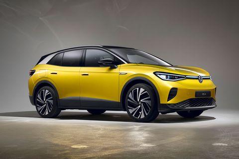 yellow volkswagen id4 2021