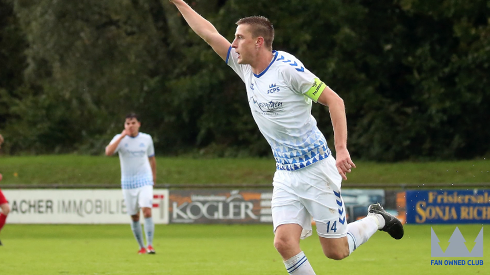 FC Pinzgau celebrate a goal.