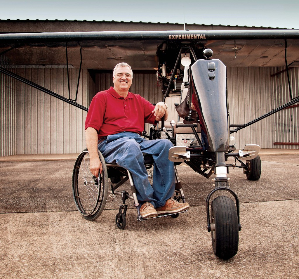 Terry Capps in his breezy aircraft