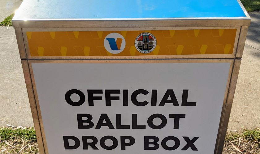 More than 1 million voters in Los Angeles County used vote-by-mail drop locations to cast their ballots.