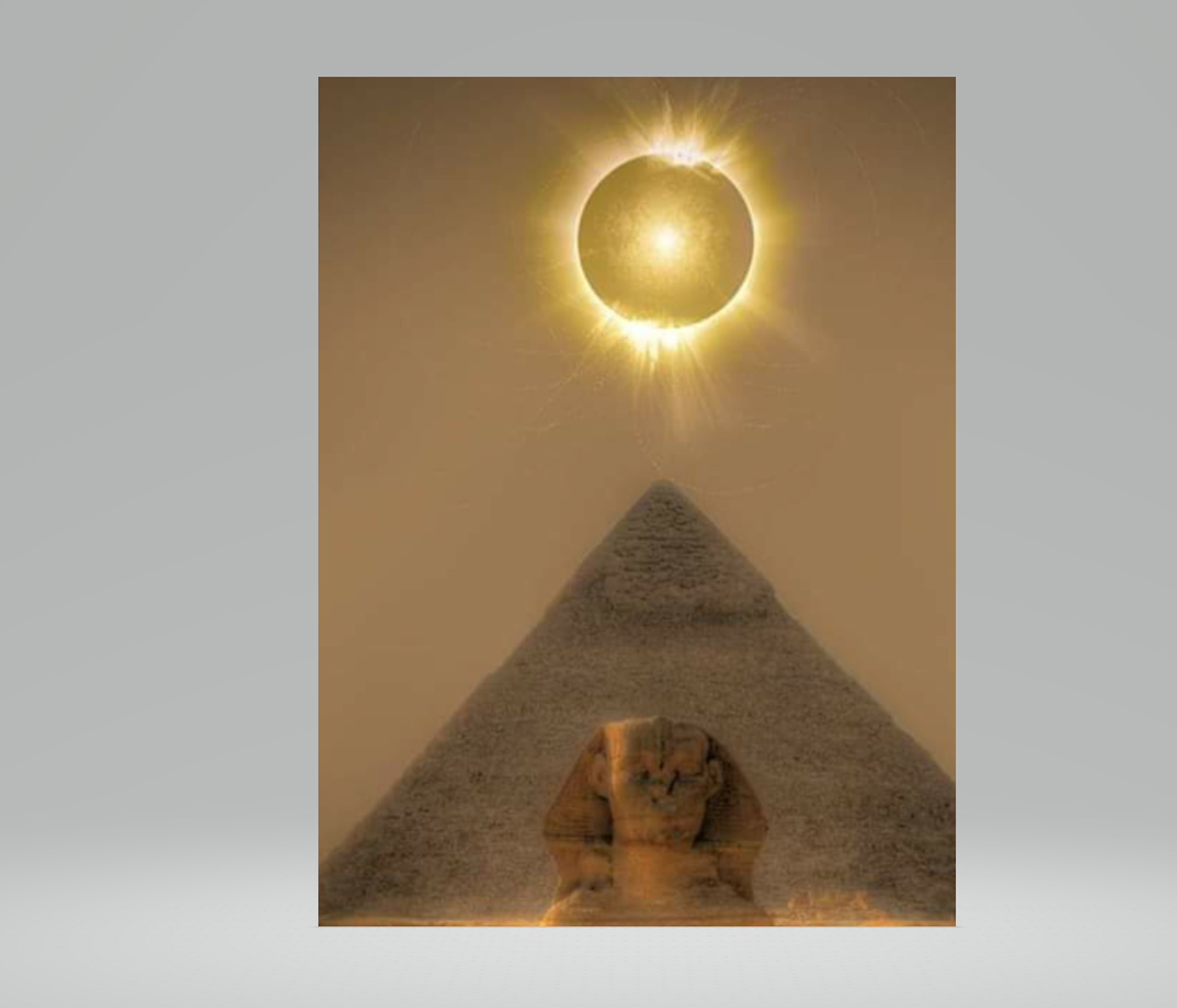 Ra (sun) on the Great Pyramid