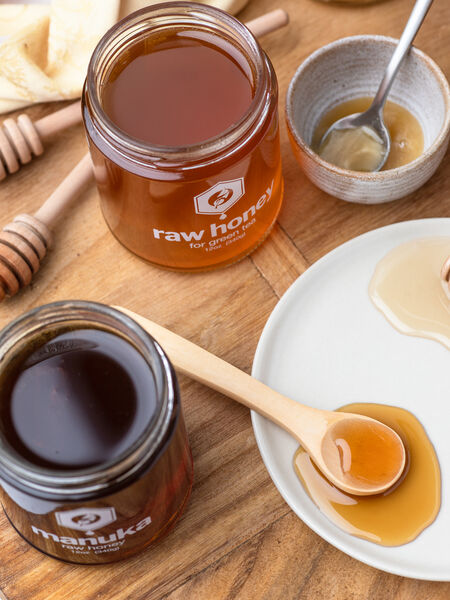 Choose from these raw honey delights: Classics like Manuka, Tupelo, and Sourwood, and teas formulated to go with herbals and true teas: Green Tea Honey, Black Tea Honey, Fruit Tisane, Garden Herbal, and Rooibos.