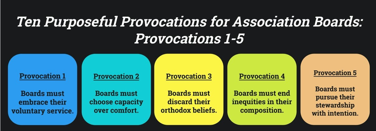 10 Purposeful Provocations for Associations Boards 1 thru 5