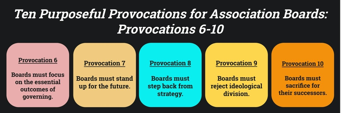 10 Purposeful Provocations for Associations Boards 6 thru 10